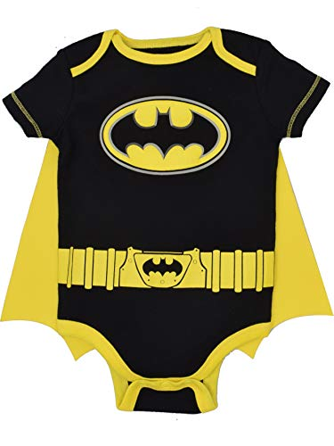 (Justice League Batman Baby Boys' Bodysuit and Cape Set (Black, 12)