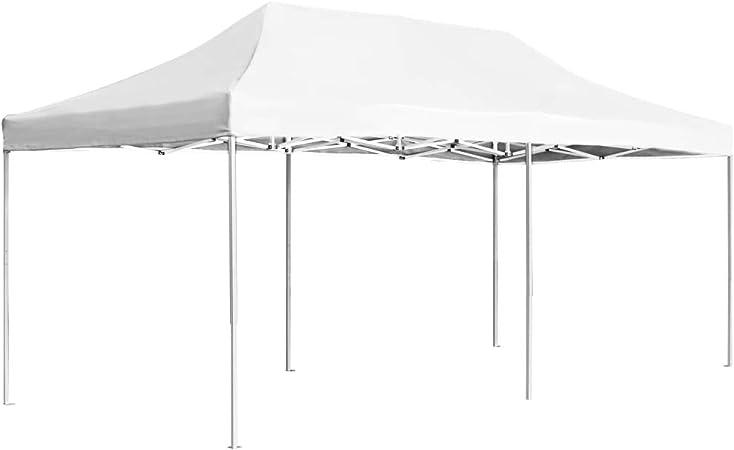 vidaXL Carpa Plegable Profesional Aluminio Cenador Pagoda Pérgola Fiestas Jardín Celebraciones Salones Estructuras Recintos Parasoles 6x3 m Blanco: Amazon.es: Hogar
