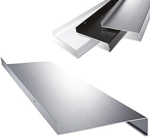 Aluminium Fensterbank in Silber Zuschnitt nach Ma/ß L/änge 1600 mm Ausladung 110 mm weitere L/ängen und Farben w/ählbar