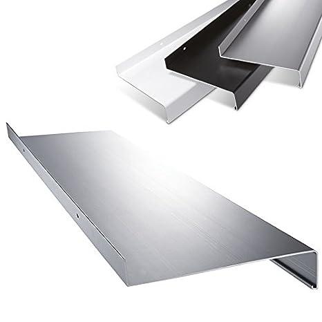 weitere L/ängen und Farben w/ählbar Aluminium Fensterbank in Silber Zuschnitt nach Ma/ß L/änge 1000 mm Ausladung 110 mm