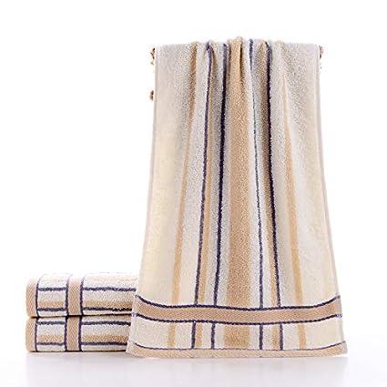 LybMaoJ Toalla algodón Puro algodón Absorbente Suave Toalla 34 * 74 cm Engrosamiento del Cabello Lavado