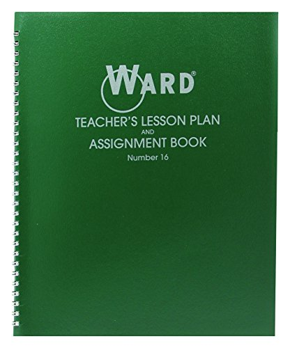 "Ward Lesson Plan Book, Wirebound, 11"" x 8-1/2"", 100 Pages, Green (HUB16)"
