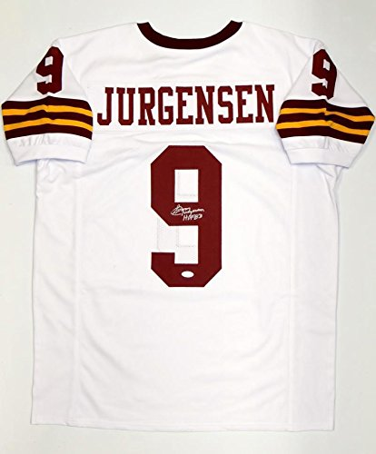 eee18c7642b Signed Sonny Jurgensen Jersey - White Pro Style W HOF Witnessed Auth - JSA  Certified -
