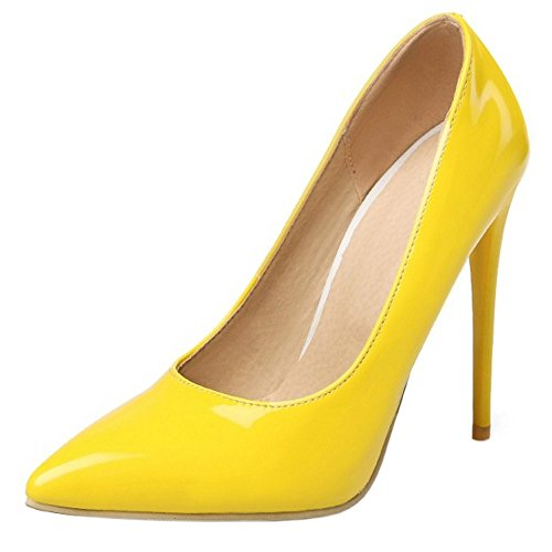 Tacon Mujer Colors heel Zapatos 10cm Formal 9 Zanpa Yellow UZgEqxwUd
