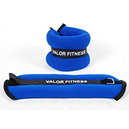 Valor Fitness EA-10 Ankle/Wrist Weight Pair, 2-Pound