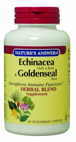 Echinacea Réponse de la nature / Goldenseal (Herb & Root), Vegetarian Capsules, 60-Count