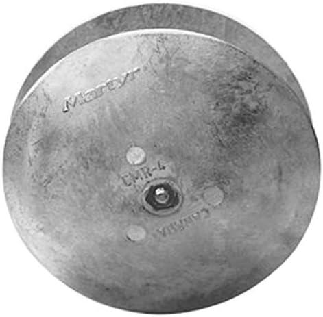 Martyr CMR04AL, Rudder / Trim Tab Disc Anode, Stainless Steel Allen Head, Aluminum, 0.65 L x 5 OD x 0.34 ID