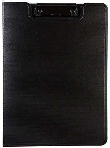 Idena 300620 - Klemmbrett DIN4, aus PP, Fassungsvermögen ca. 50 Blatt (80 g/m² Papier), mit Deckel und starker Klemme, schwarz