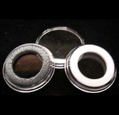 (10) Air-tite 34mm Black Ring Coin Holder Capsules for 1/2oz Silver Maple Leafs