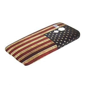 ANDYES U.S American Flag Duro Carcasa Funda Caso Tapa Case Cover Para Motorola Moto G
