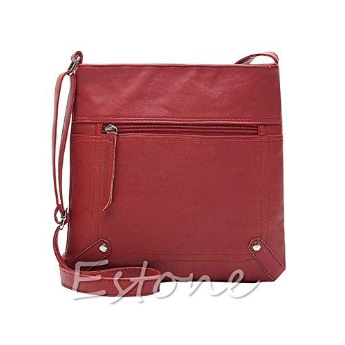 Rouge Rouge Bags Cross Bag à Moontang Brown coloré en Messenger Cuir Main Satchel Body Sac Sac à Femmes bandoulière Dark Taille Mode aOrZan1
