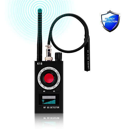 RF Signal Detector, Bug Detector Anti-spy Signal Detector GPS Tracker Detector Ultra-high Sensitivity Wireless Signal Detector Hidden Camera Finder for Home, Office, Hotel, Bathroom