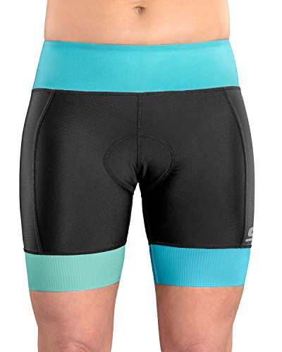 SLS3 Womens Triathlon Shorts FRT | 6 inch Black Women Tri Short | Super Comfy with Soft Chamois | German Designed 2018 Blue ()