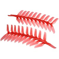 BangBang 10 Pairs Racerstar 5048 5x4.8x3 3 Blade Racing Propeller 5.0mm Mounting Hole for FPV Racer (10 Pairs: Color Red)