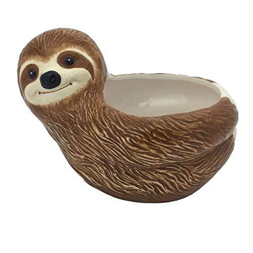 Streamline Ceramic Sloth Flower Planter Pot