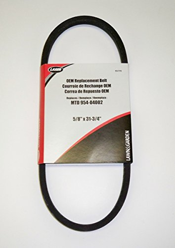 OEM Duplicate Belt Replaces 754-04002, 954-04002 Used On MTD, Cub Cadet, Yard Machine, Yard-Man, White, Bolens
