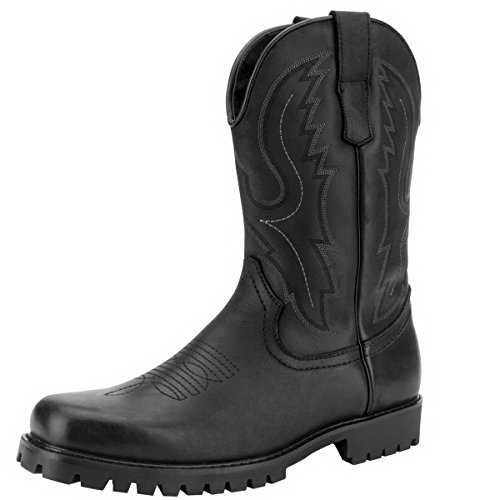 J's.o.l.e Men's Square Toe Western Work Cowboy Boot Black US 13