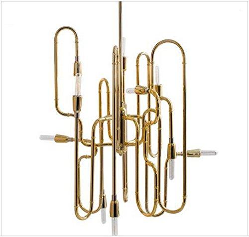 GOWE Golden Chandeliers Modern Creative Hanging Lights Nordic Minimalist Art Decoration E14 * 10 Club Bar chandeliers