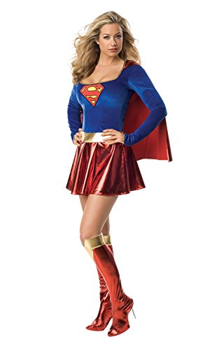 Secret Wishes Sexy Supergirl Costume, Red, XS (2/4)