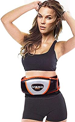 Vibro Shape original – Banda reductora de masaje con efecto sauna – Banda adelgazante vibratoria con sistema de calor, moldeadora de abdominales