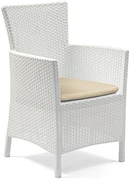 Allibert Iowa Blanc Salon de jardin en rotin Chaise de salle ...
