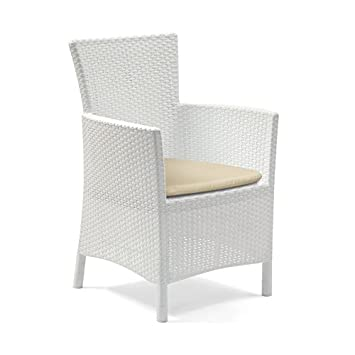 Allibert Iowa Blanc Salon de jardin en rotin Chaise de salle ...