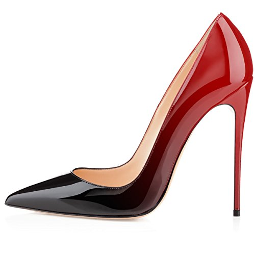 Toe Wedding Classic Party Red 4 Pumps High 72in Women's 12cm Pumps Dress Heel Eldof Pointed Black Stilettos Patent gzqWF