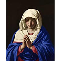 Virgem Maria de Sassoferrato - 60x74 - Tela Canvas Para Quadro
