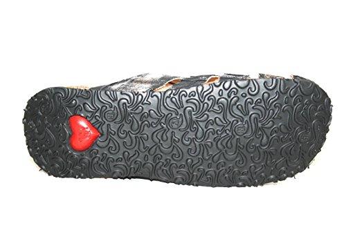 Combi NOIR SCHLAPFA chaussures Noir CHAUSSURES Combi SZ Sz FEMMES Nature MULES Think B7qwq8x
