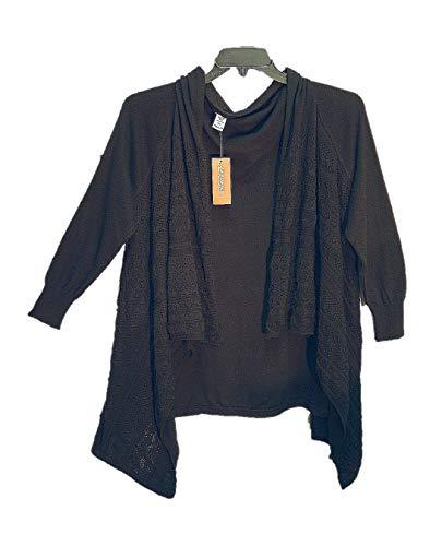 AMERICAN RAG CIE Black 100% Cotton Crochet/Knit Open Drape Front Cardigan Sweater TOP~Junior/Womens/Plus/Misses~1X~0X~XXL~XL from AMERICAN RAG CIE