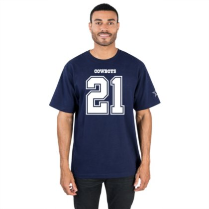 buy popular 5bd08 c8fc5 Ezekiel Elliott Dallas Cowboys Navy Eligible Receiver Jersey Name and  Number T-shirt
