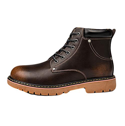 Boots Antivento High Caldo Leather Stivali E Martin Shoes Casual Desert Help Outdoor Work Black Mens Boot Booties YqxT0H