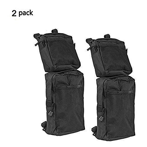 COCO ATV Fender Bags 2-Pack ATV Tank Saddle Bags, Cargo Storage Hunting Bags (Black) by COCO
