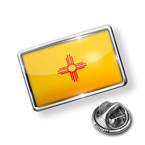 top Pin New Mexico Flag region: America (USA) - Lapel Badge - NEONBLOND for cheap