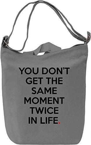 One moment Borsa Giornaliera Canvas Canvas Day Bag| 100% Premium Cotton Canvas| DTG Printing|