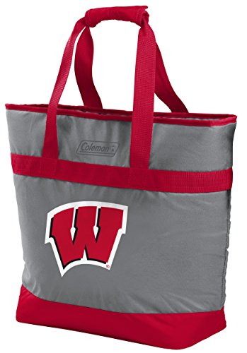 Rawlings NCAA Wisconsin Badgers Unisex 07883109111NCAA 30 Can Tote Cooler (All Team Options), Red, ()