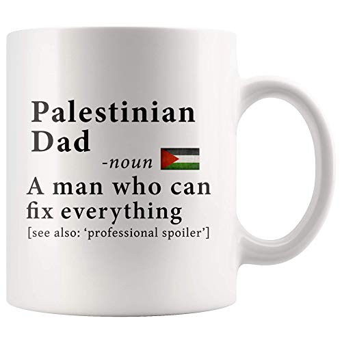 Palestinian Dad Definition Palestine Flag Fathers Day - 11oz White Mug family reunion gifts Gift Idea ()