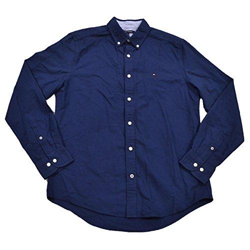 Tommy Hilfiger Mens Custom Fit Oxford Shirt (XL, Navy - Shirt Oxford Tommy Hilfiger