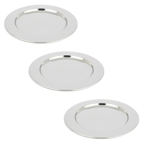 Amazon.com: yamde 3 Pcs 8.5 inch Acero Inoxidable Plato ...