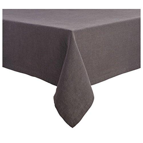 (Sur La Table Charcoal Linen Tablecloth M-49642 D, 70