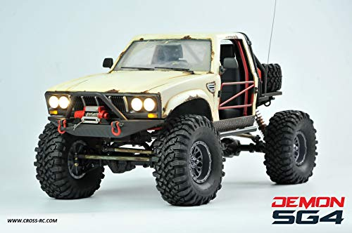 SG4C Demon 4×4 w Hard Body, Full Interior and CNC Gears: 1/10 Scale 4WD Scaler Rock Crawler Pickup Truck Kit (Requires Assembly and Paint)