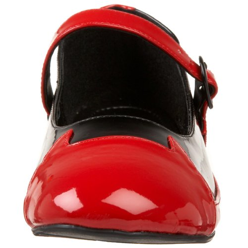 Pleaser - Botas para mujer blanco / rojo 42
