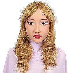 QLAT TOYS Silicone Realistic Female Mask Handmade Soft Christmas Cosplay for Transgender Transgender Masquerade