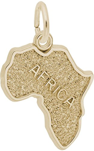 Rembrandt Africa Charm - Metal - 10K Yellow Gold by Rembrandt Charms