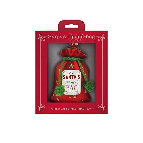 Decorative Santa Gift Box - DEMDACO Santa's Magic Bag Red 3.5 x 5 Inch Glass Decorative Christmas Ornament in Gift Box