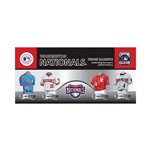 MLB Washington Nationals 4-Pack Uniform Magnet ()