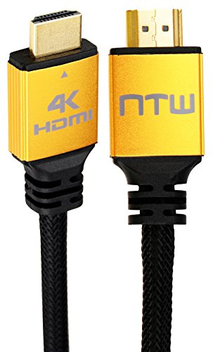 NTW NHDMI2P-003P 3' Ultra HD PURE PRO 4K High Speed HDMI Cable Offers 4X The Clarity