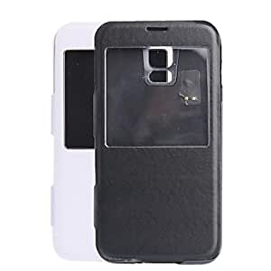 LZX 5V 3500mAh External Power Back Battery Case for Samsung Galaxy S5 with PU Front Cover , White