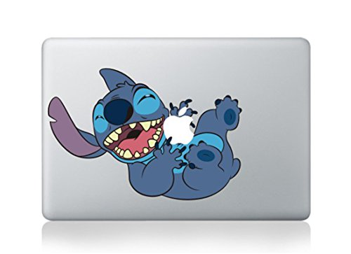 Stitch Hugging Apple Decal Sticker for Macbook Laptop Air Pro Retina 13 15 17 Inch Cool