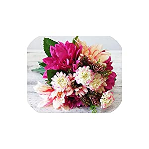 Hydrangea Peony Wedding Bouquet Brooch Bouquet Wedding Accessories Artificial Dahlia Wedding Flowers Bridal Bouquets,02 2